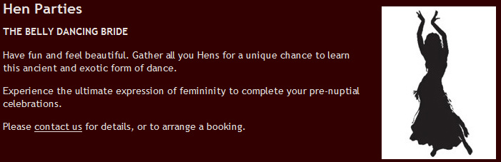 Advert for a hen party