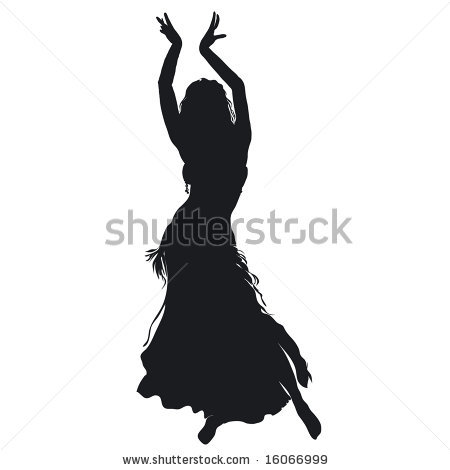 Silhouette of the same dancer